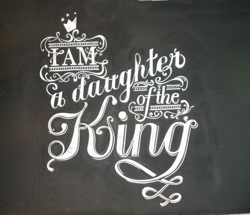 simply-divine-creation:  simply-divine-creation:  Psalm 45:13I am a daughter of the King »> By Natalie Krick