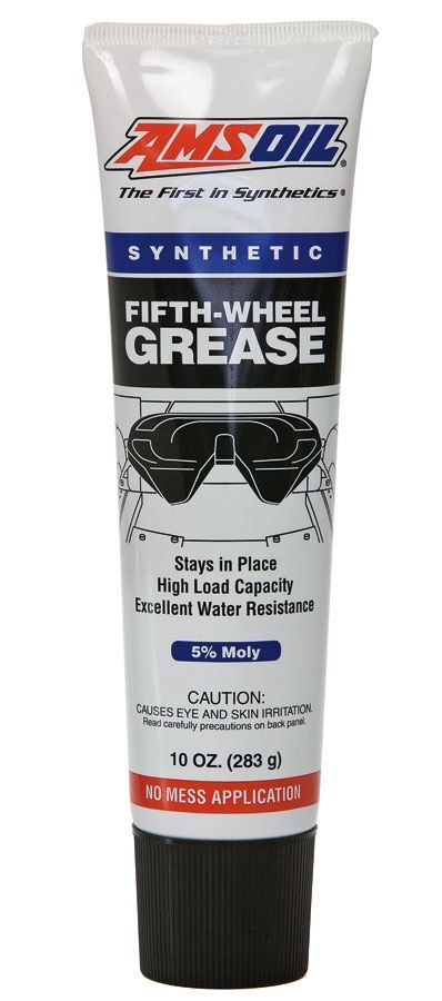Keep this grease in your glove box. No mess 5 Th. wheel grease