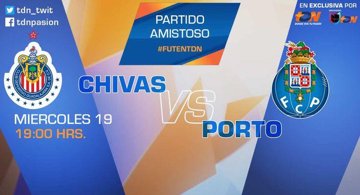 Ver Chivas vs Porto EN VIVO Por Chivas TV Gratis roja directa y por Internet Online