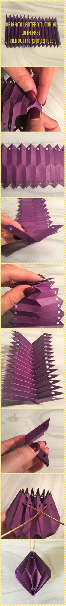 Origami lantern tutorial with free cut file from Silhouette Uk blog http://silhouetteuk.blogspot.co.uk/2016/04/origami-lanterns-with-free-cut-file.html?m=1