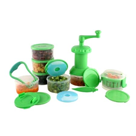 Our baby food preparation kit has everything you need to prepare healthy and nutritious baby food at home! This kit includes a set of four containers, a prep steamer, a food mill, and a food masher. All items are BPA free. Visit  www.Fit-Fresh.com for more details  #fitfresh