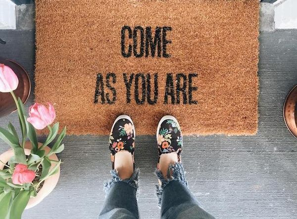Life Lately On Instagram - The Inspired Room (come as you are doormat)