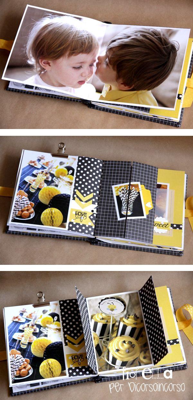 Mini álbum amarillo y negro