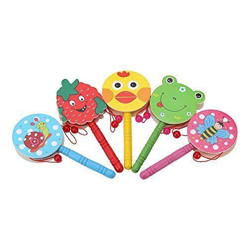 Kids Toys Hand Shaking Drum Rattle Sound Music Durable Musical Instrument Colorful Equipment Playset Set Educational Learning, http://www.amazon.com/dp/B01A3ERUT6/ref=cm_sw_r_pi_awdm_GoYbxb8KCVWRC