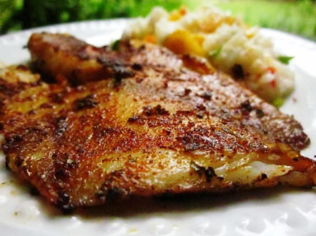 Blackened Fish from Food.com:   								If you like red snapper, then use it here - I think it's fabulous. The spice rub can be used on anything - it's the best I've ever tasted! I make 3 fillets for 2 people because it's so good!