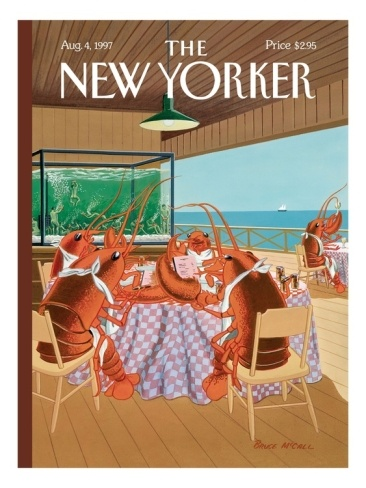The New Yorker Cover - August 4, 1997 Giclee Print by Bruce McCall at eu.art.com