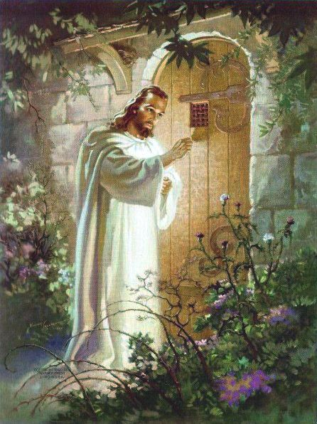Jesus Knocking at the Door. I think this was the picture over the altar at Hamilton-Bethel UMC.
