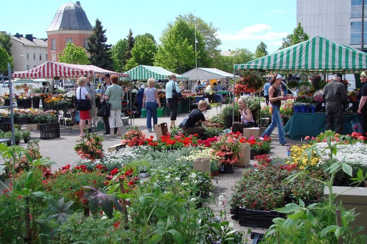 Hamina Market Square is very lively in summer time and this is were you can meet the locals.