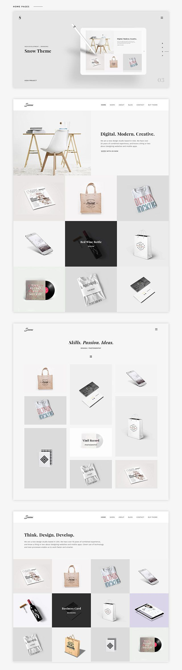 246 best HTML template images on Pinterest | Identity, Curriculum ...