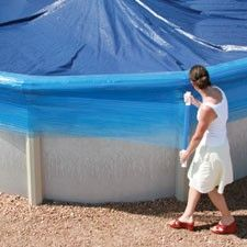 Wrap your above ground swimming pool with Seal Wrap during the winterizing process.  Find all of your winter pool supply needs at Doheny's Pool Supplies Fast: www.doheny.com