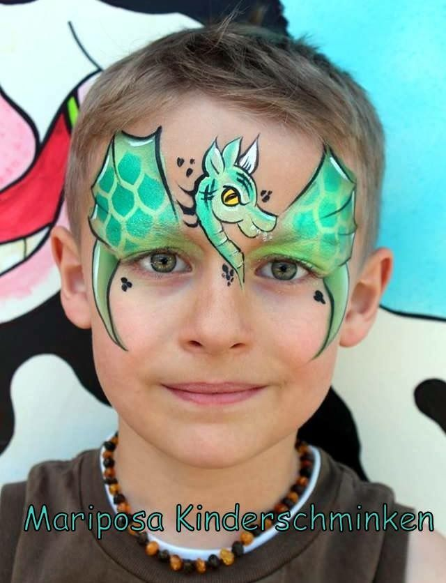Cool Dragon Face Painting Mask.