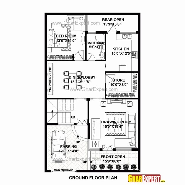 House Plan For 25 Feet By 30 Feet Plot Plot Size 83: Image Result For 20 X 60 Homes Floor Plans