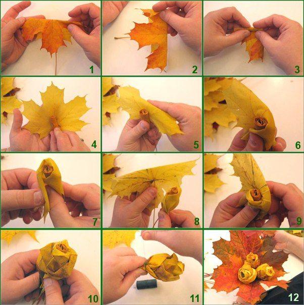 20 идей использования осенних листьев | Море идей