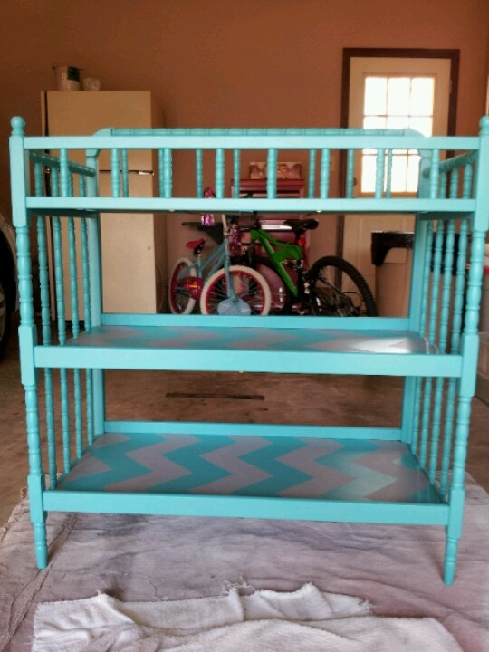 Painted Changing Table. I Think I Can Find One Just Like This At My  Grandmothers