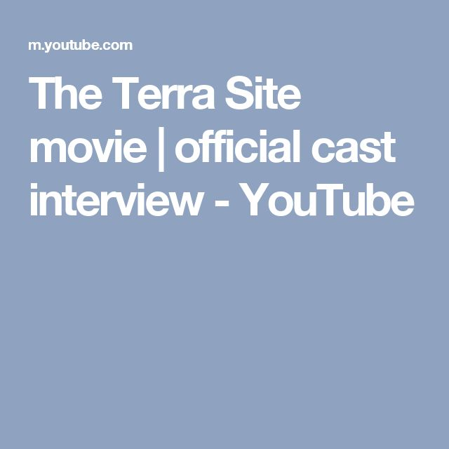 The Terra Site movie | official cast interview - YouTube