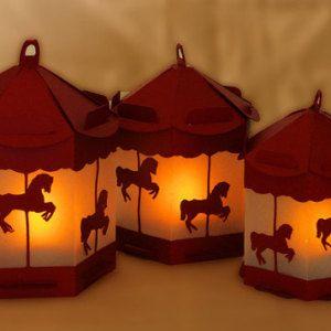 3D SVG Pony carousel  Lantern SVG digital file