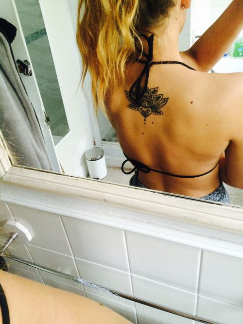 cute lotus flower back tattoo #ink #YouQueen #girly #tattoos
