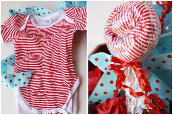 From lollipop to onesie, the perfect baby shower centerpiece or gift for the mommy-to-be!