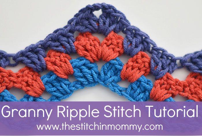 Granny Ripple Stitch Tutorial www.thestitchinmommy.com                                                                                                                                                                                 More