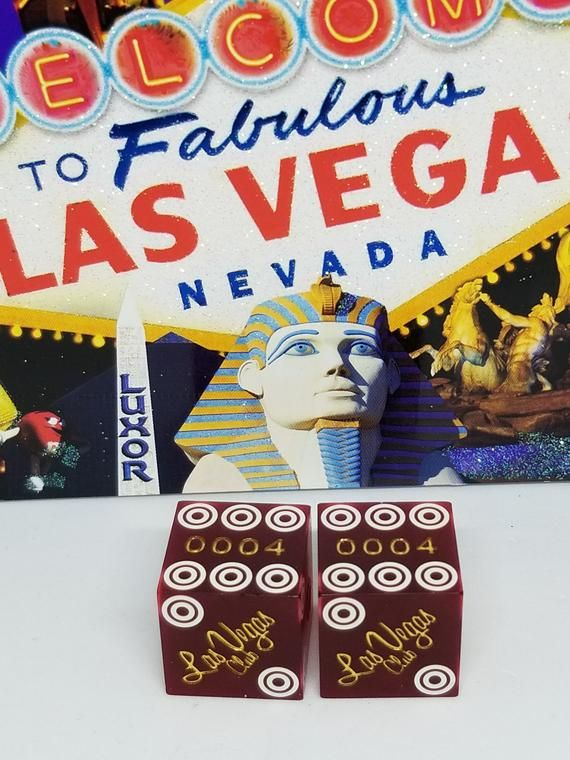 Amazing rare vintage Binion/'s Horseshoe Club Las Vegas casino dice bones craps shooter tablegames gambler Fremont downtown mancave souvenir
