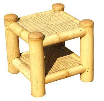 mobilier en bambou   Table de chevet en bambou