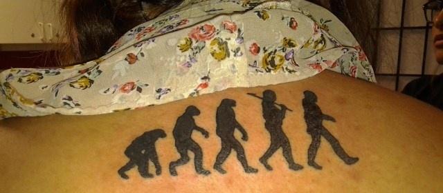 my evolution of man #tattoo