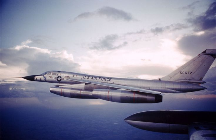 The Convair B-58 Hustler was the first operational supersonic jet bomber capable of Mach 2 flight. First flight: November 1956. Retired: January 1970.