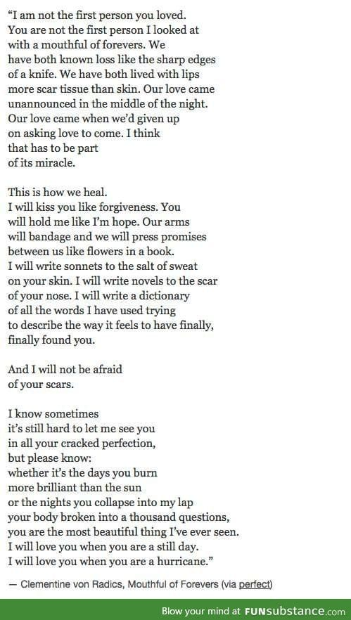 i found this so beautiful.