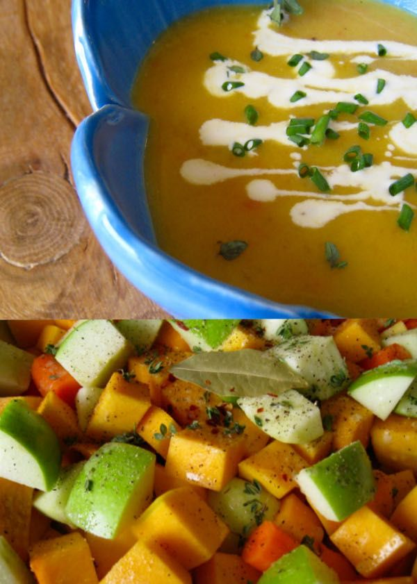 Award Winning Roasted Butternut Squash and Apple Soup Recipe. Healthy, easy, vegetarian and easily adaptable to a vegan lifestyle. Must have on your Thanksgiving / Friendsgiving and Holiday Table | CiaoFlorentina.com @CiaoFlorentina