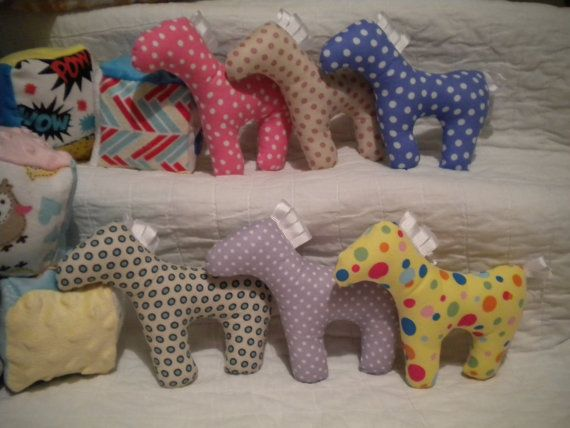 SALE Infant Crinkle Ponies Polka Dot Toy by CutenessbyCindy