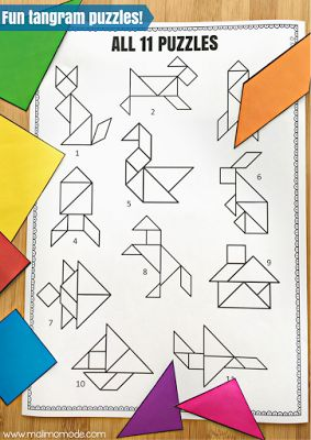 4 BIG Reasons Why You Should Be Using Tangram Puzzles! Develop key skills with practical and fun puzzles! These fun tangram games and puzzles foster creative thinking, promote problem solving, increase spatial reasoning, AND allow you to easily differentiate. Click through to learn more AND grab some for your Kindergarten, 1st, and 2nd grade classroom or homeschool students today.