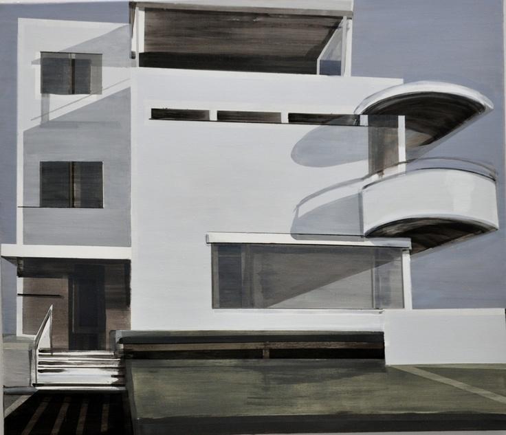 "Saatchi Online Artist: Cécile van Hanja; Acrylic, 2012, Painting ""Huis Sonneveld"""