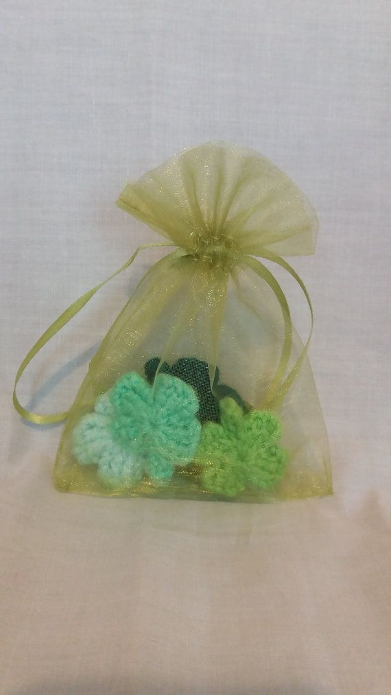 Little Bag of Luck  Crochet Four Leaf by CarrotTopsCharacters