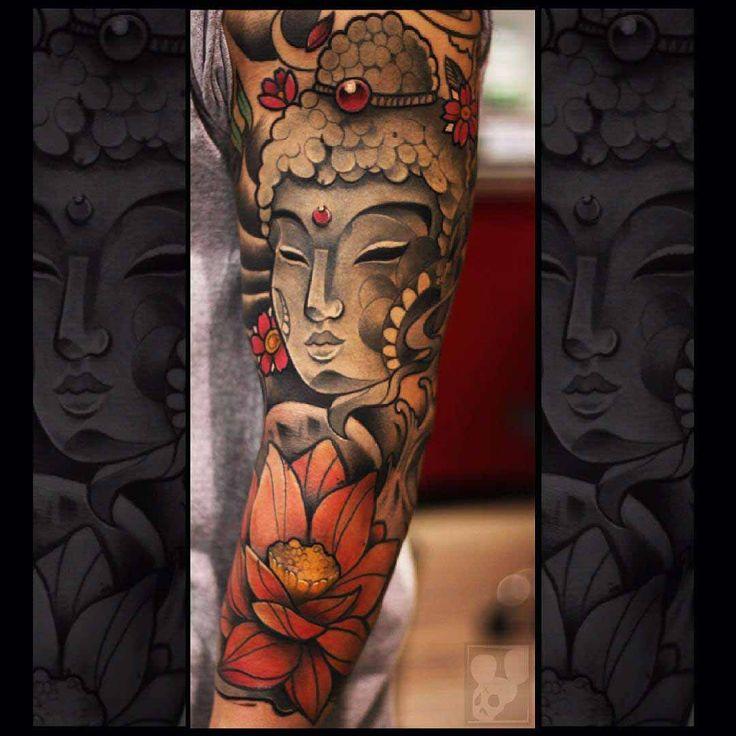 Buddhist Half Sleeve Tattoo: 17 Best Ideas About Buddha Sleeve Tattoo On Pinterest