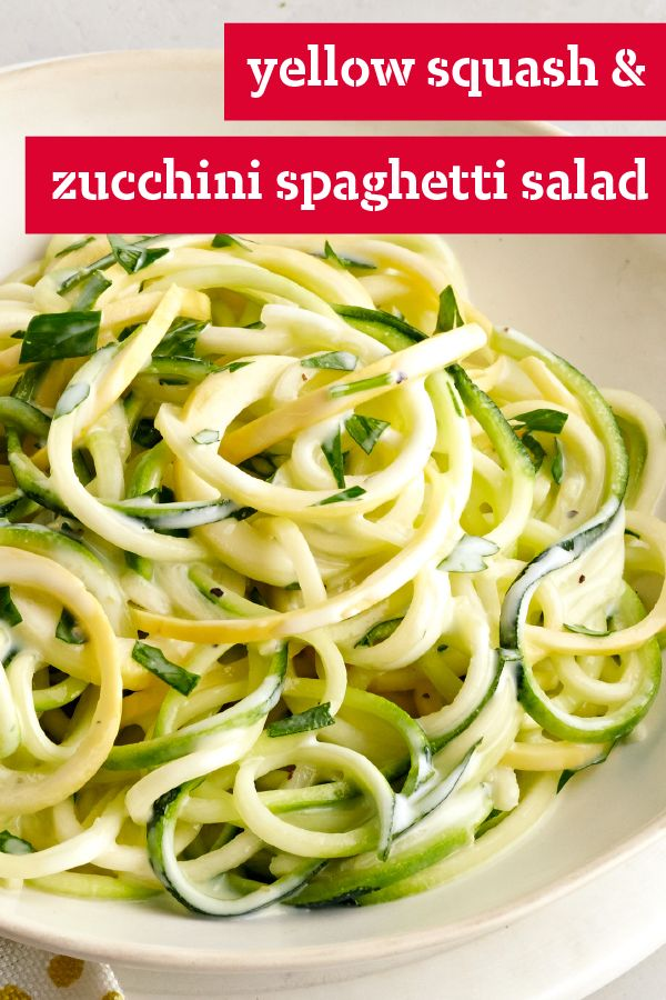 Yellow Squash and Zucchini Spaghetti Salad – Try out this fresh vegetable salad on your family and friends and watch the smiles appear. Plus, it's ready in just 10 minutes.