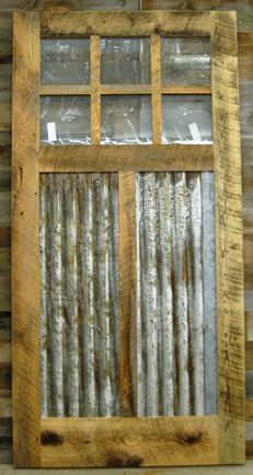 This is a great rustic door this would be cool around the bottom of the screened in porch