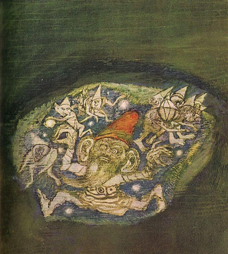 Ilustracje Andrzej Strumiłło; Robert Stiller 'Narzeczony z morza. Baśnie skandynawskie'; Nasza Księgarnia, Warszawa, 1971