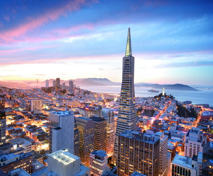 san Francisco cityscape | ... The Best Skyline Pictures in San Francisco- Mandarin Oriental at dusk