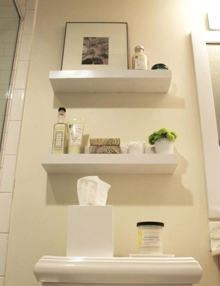 15 Interesting Floating Wall Shelves For Your Bathroom Style Ideas   – Bathroom Ideas