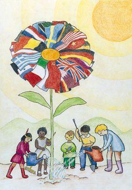 Picture a Peaceful World by Ugo Ciocchetti ( 12yrs. old), Italy. Sponsored by Biella Bugella Civitas Lions Club