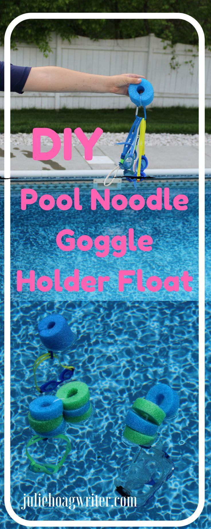DIY Pool Noodle Goggle Holder Float | family | kids | pool ideas | pools backyard | pool noodle ideas | pool noodle crafts |family fun | kids and family | pool noodles | diy crafts | diy pool ideas | pool time | pool time ideas | swim time | goggles swimming | goggles DIY | pool floats | pool floats for kids | pool floats awesome | swimming | affiliate | lake swimming | summer fun | summer fun ideas | summer crafts kids