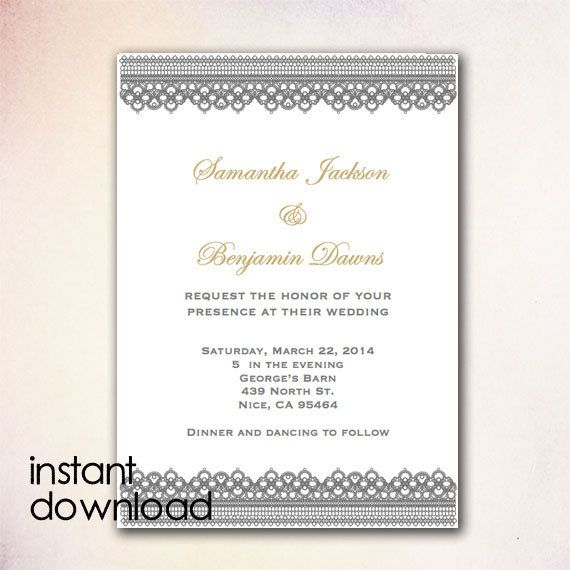 24 best DIY Wedding Invitation Templates - Instant Download images - invitation download template
