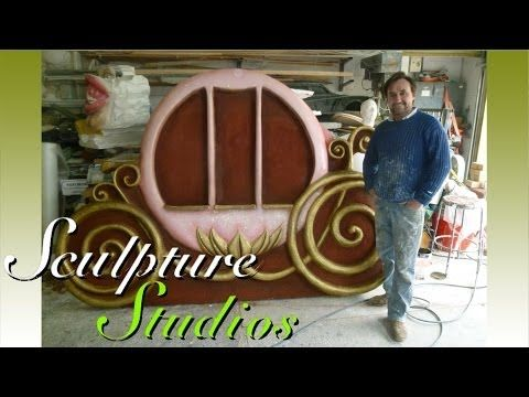 Disney Backdrop Theming, Polystyrene / Styrofoam Carving by Sculpture Studios - YouTube