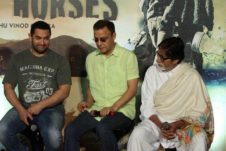 बिग बी अौर आमिर 'Broken Horses' के ट्रेलर लॉन्च के दौरान
