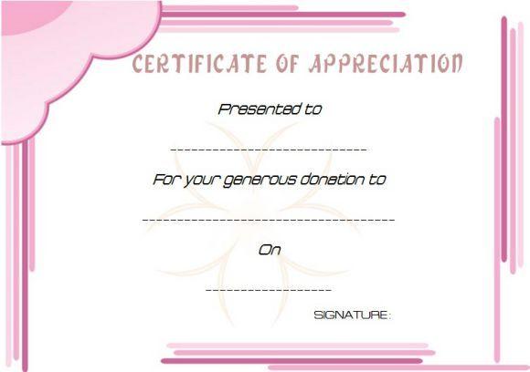 donation certificate template