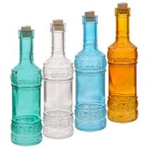Bulk deco glass bottles with corks 9 at for Colored glass bottles with corks