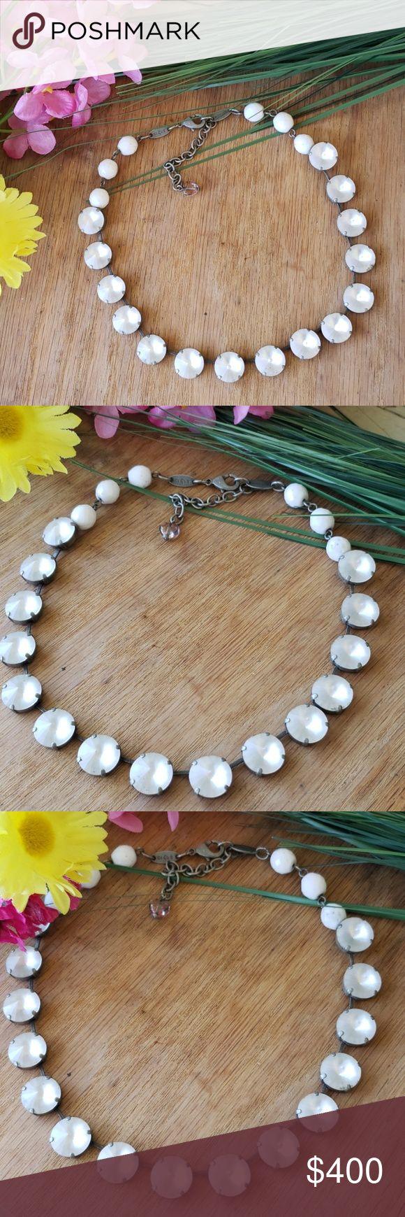 Sabika necklace Brautiful, unique, white jeweled, clouded