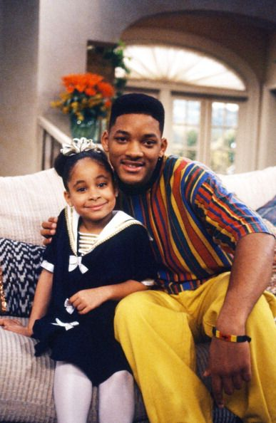 Raven-Symone & Will Smith on the set of The Fresh Prince of Bel-Air