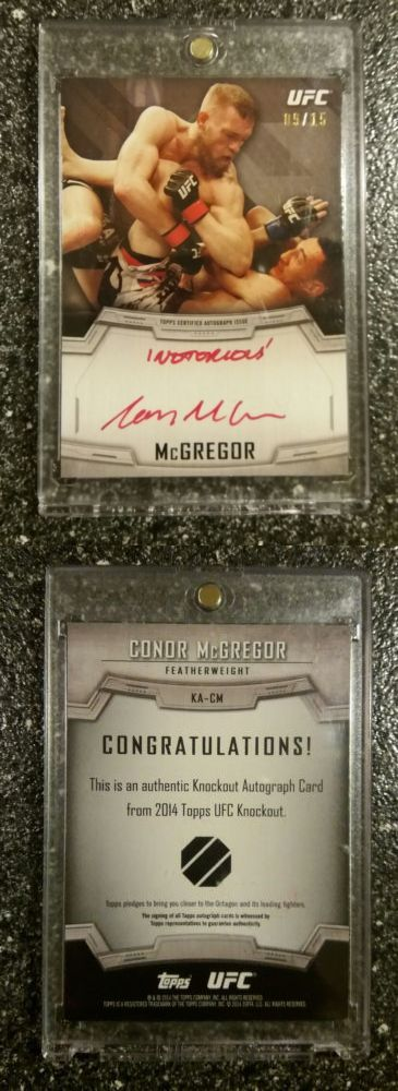 Mixed Martial Arts MMA Cards 170134: 2014 Topps Ufc Knockout ~ Conor Mcgregor **Red Ink** Auto Signed Card! (#9 15) -> BUY IT NOW ONLY: $1499.99 on eBay!