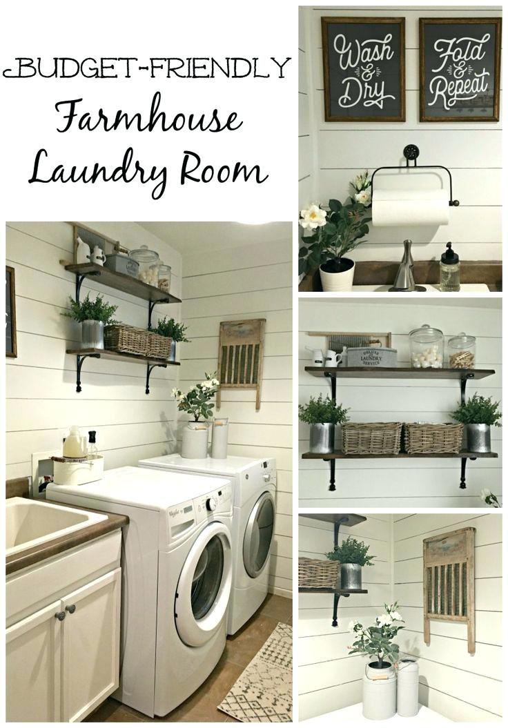 laundry room decorating ideas on a budget : maximize storage ...